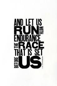 And let us run the race